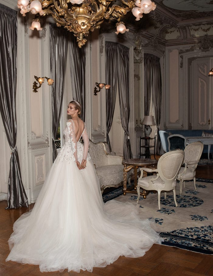Galia Lahav bridal gown with overskirt
