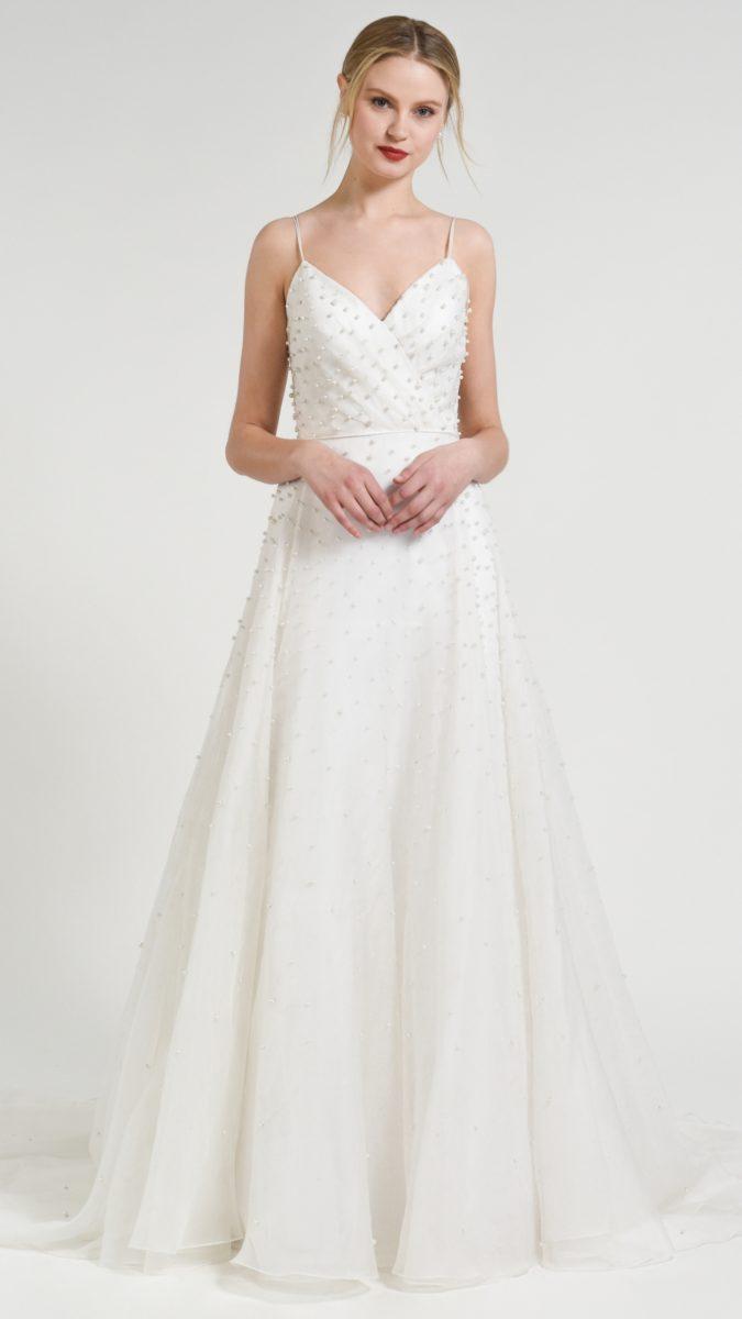Beaded pearl top wedding dress Presley Jenny Yoo