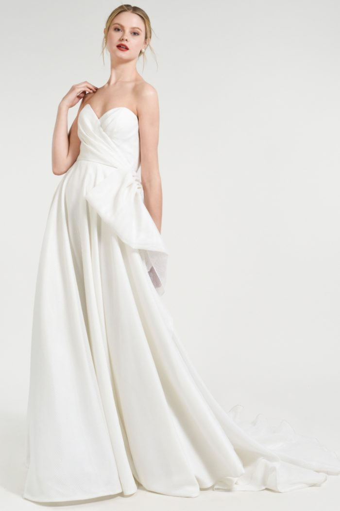 Draped strapless wedding dress Wallace Jenny by Jenny Yoo