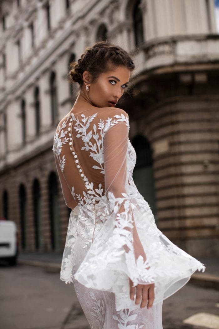 Tarek Ediz wedding dress with amazing detail