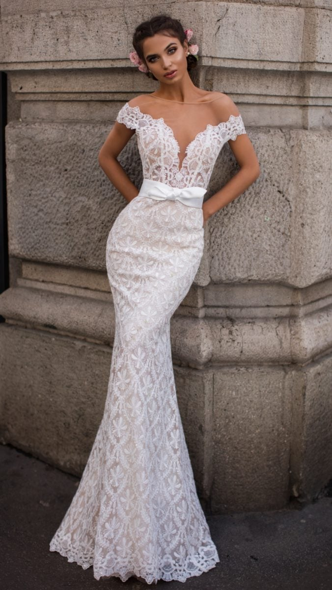 Mermaid lace 2019 wedding dress