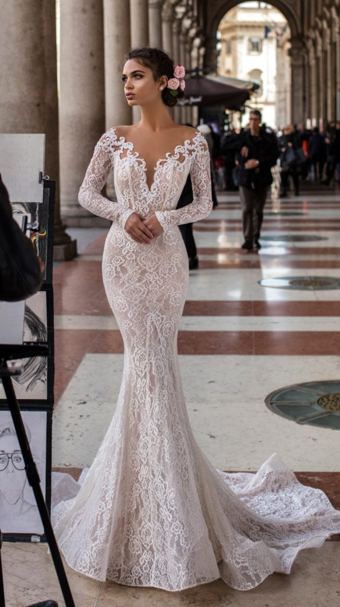 Long sleeve lace sexy bridal gown | Wedding Dresses by Tarik Ediz
