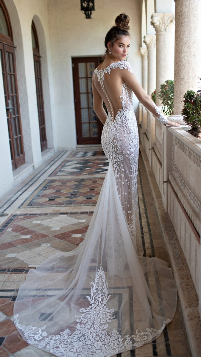 Berta wedding dress with back details | Spring Summer 2019