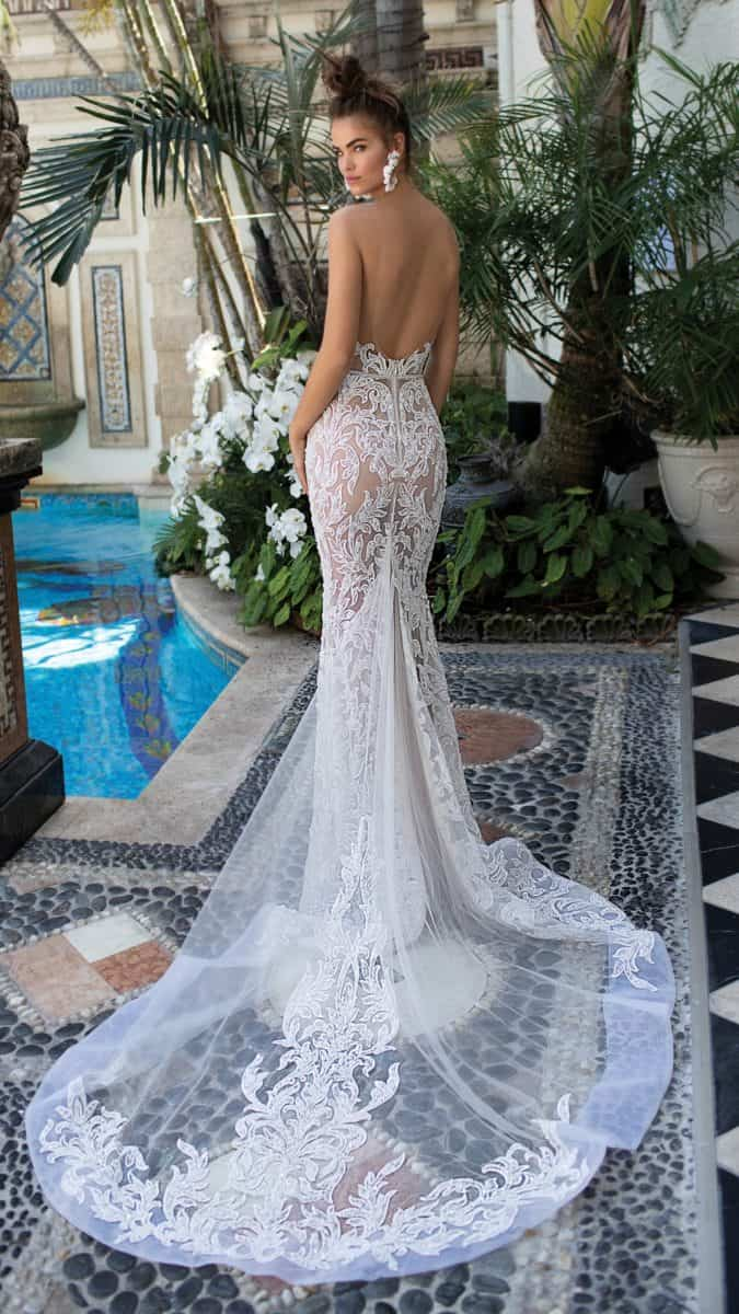 Strapless lace bridal gown 2019 |Berta Designer Wedding Dresses