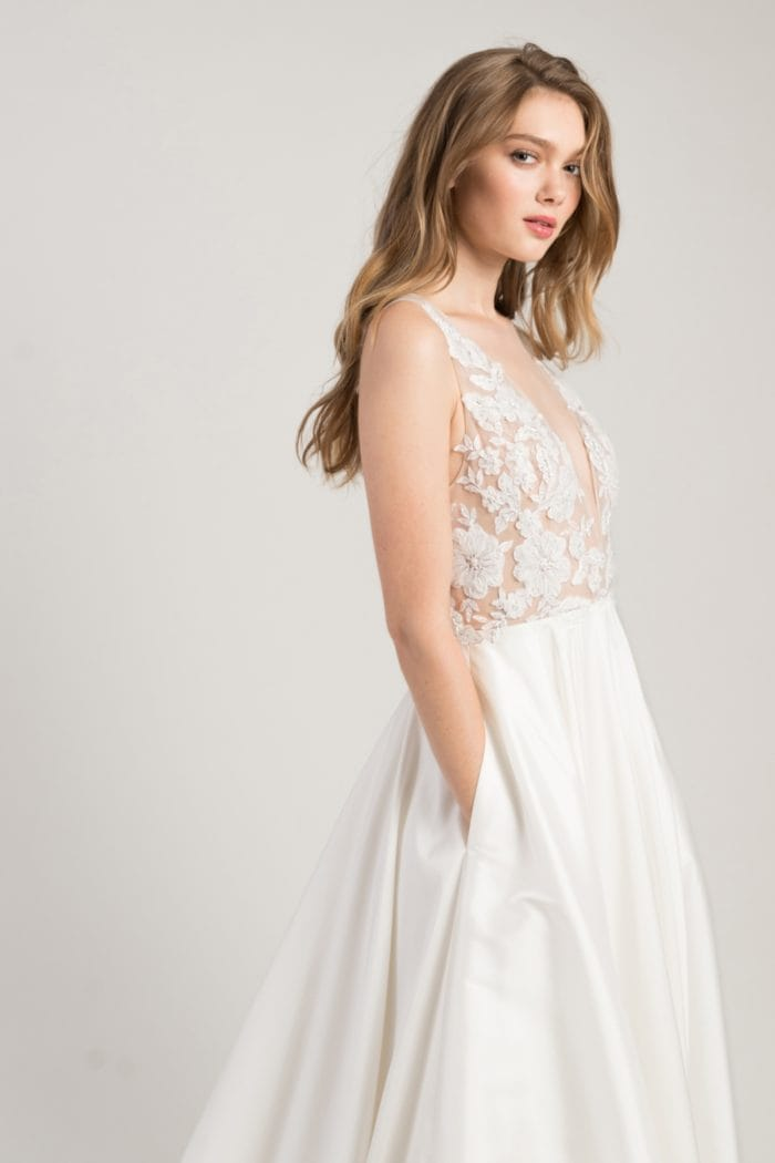Wedding dress with pockets Connor gown Jenny by Jenny Yoo