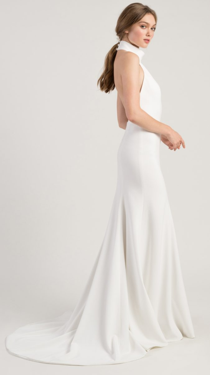 Modern halter wedding dress | Dawson Gown