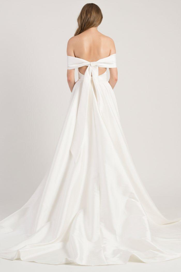 Bow back tie on Eliza gown Jenny Yoo