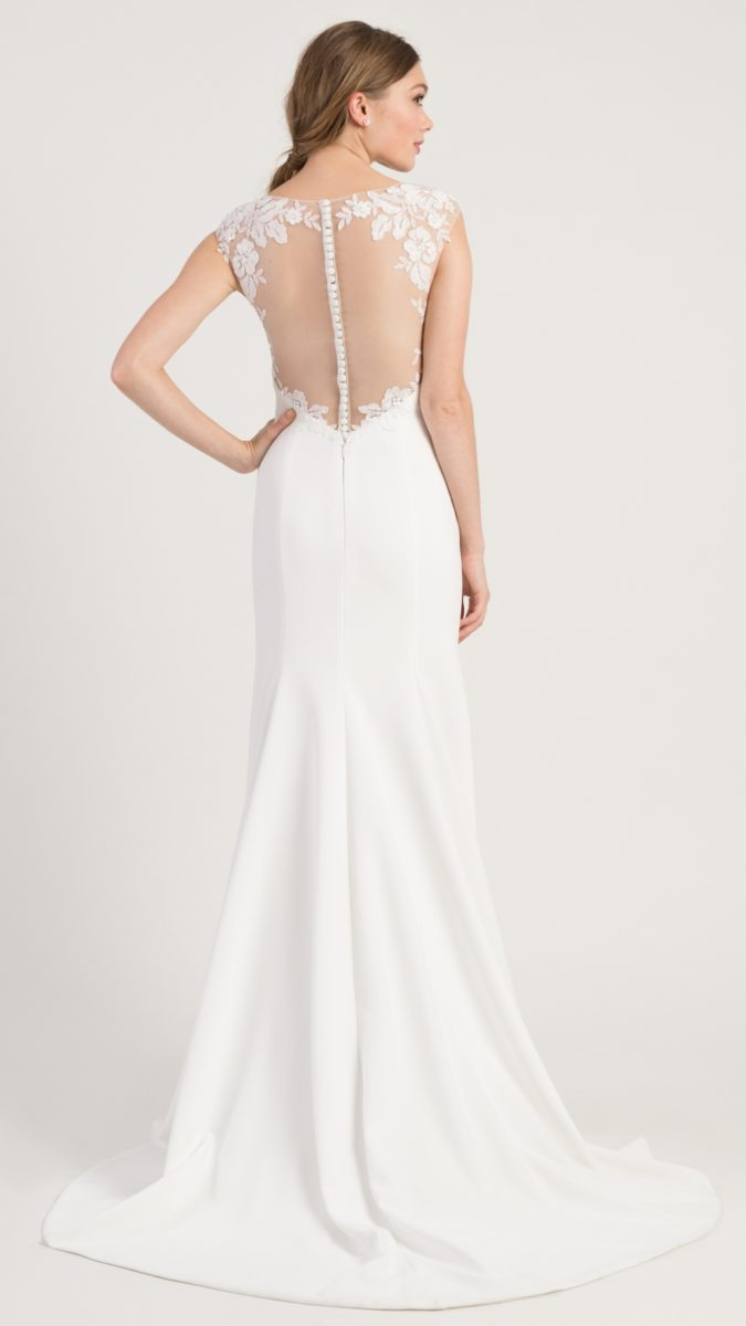 Illusion back wedding dress with buttons | Spring 2019 Wedding Dresses Jenny by Jenny Yoo