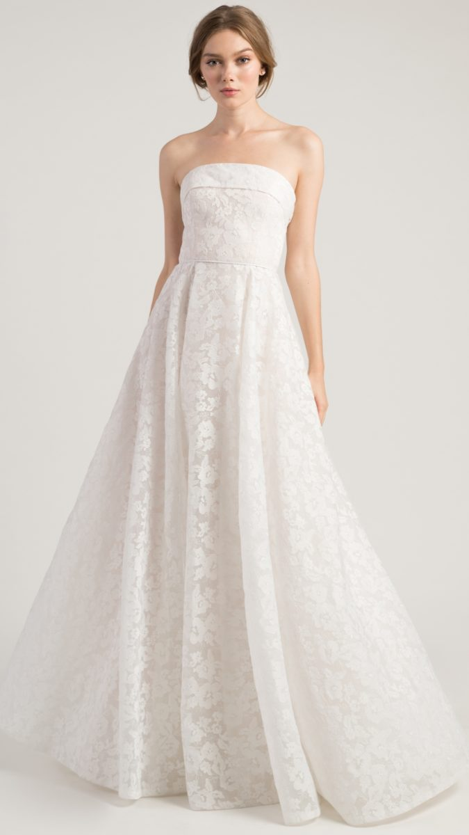 Strapless lace ball gown wedding dress | Jenny by Jenny Yoo Wedding Dresses Leigh