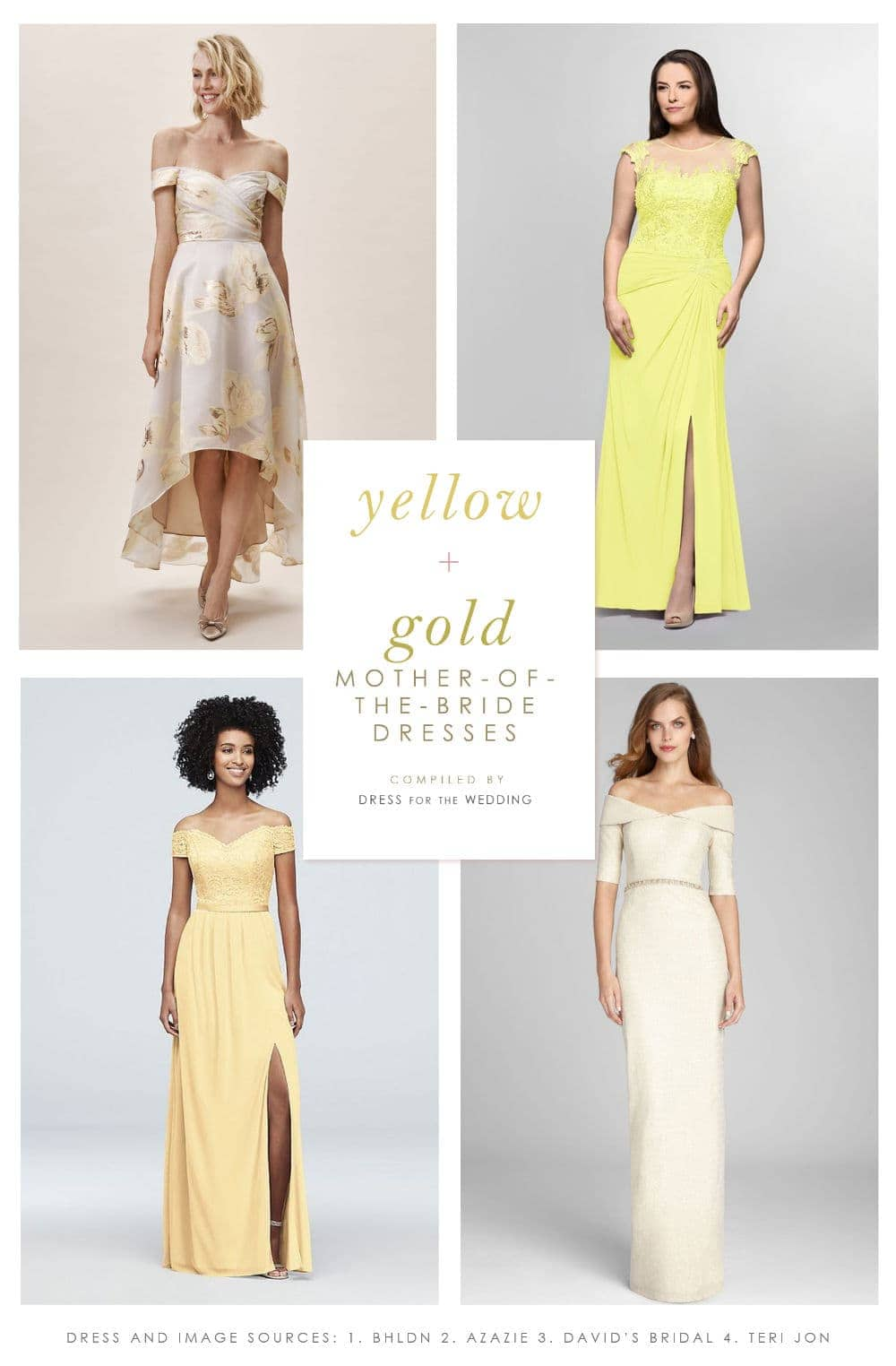 445faf3375d17 Yellow Mother of the Bride Dresses