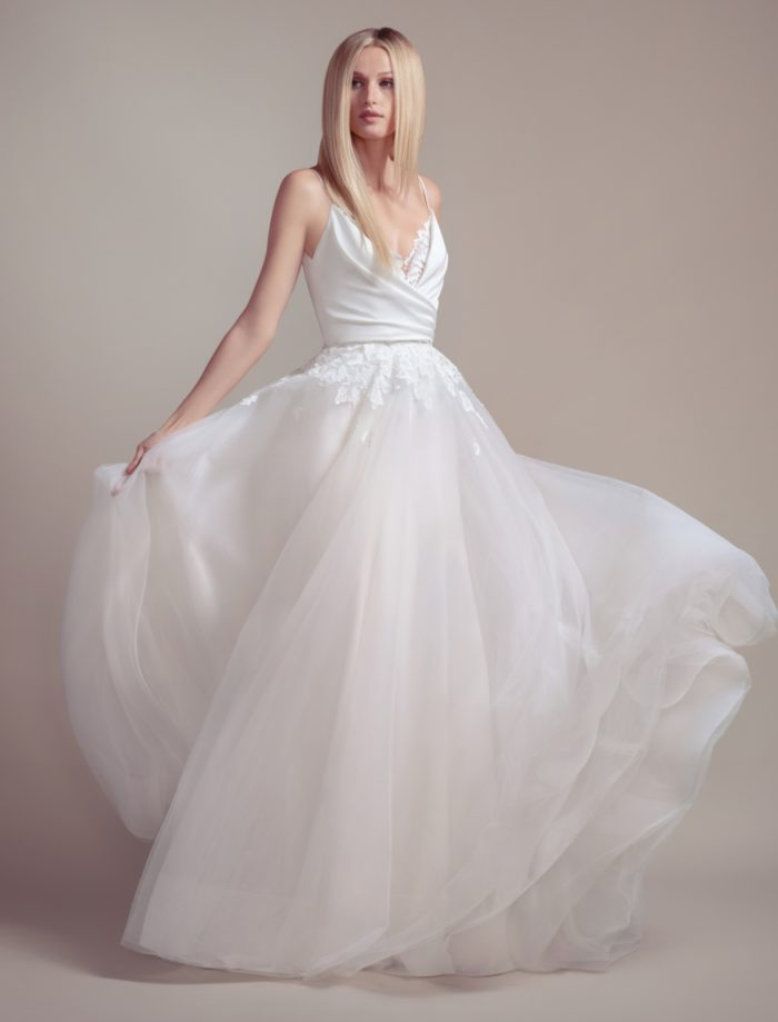 Wedding dress with overskirt Blush by Hayley Paige Spring 2019