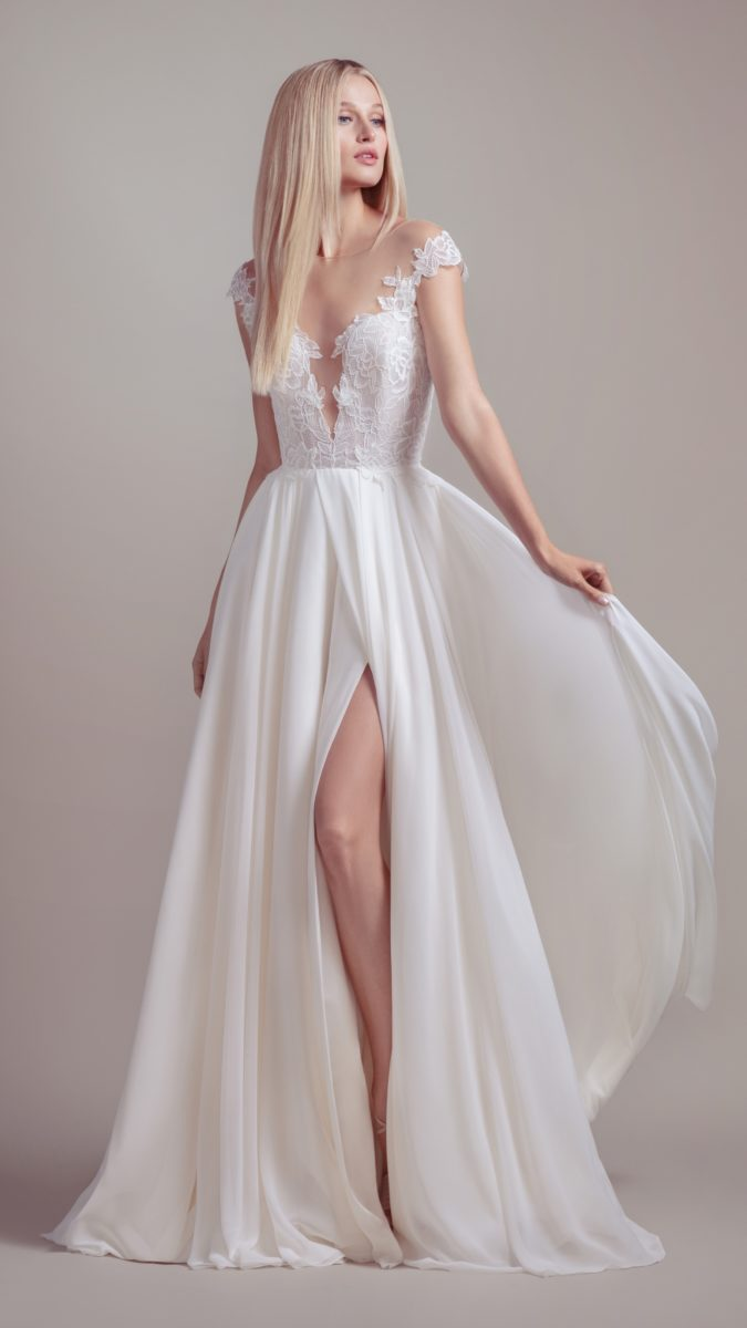 Cap sleeve lace wedding dress | Soleil from Blush by Hayley Paige