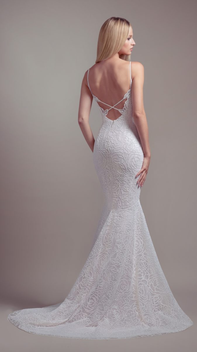 Strappy back wedding dress | Finch Gown