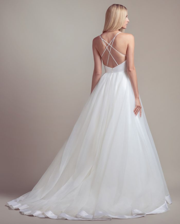 Strappy back ball gown wedding dress | Drai from Blush by Hayley Paige