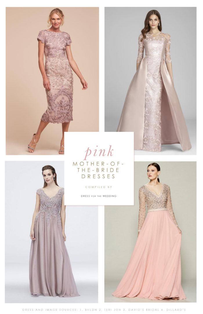Blusk, rose, mauve, and pink dresses for the Mother-of-the-Bride or Mother-of-the-Groom
