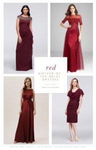 Burgundy and Red Mother of the Bride Dresses