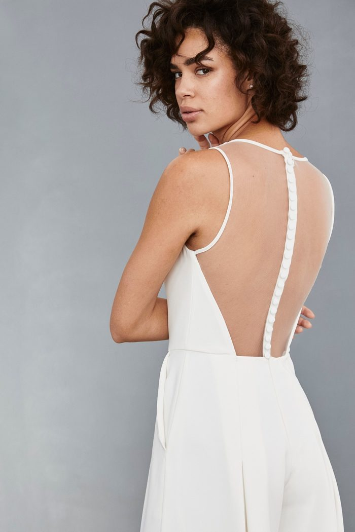Illusion back bridal jumpsuit