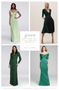 Green dresses for the mother of the bride and mother of the groom