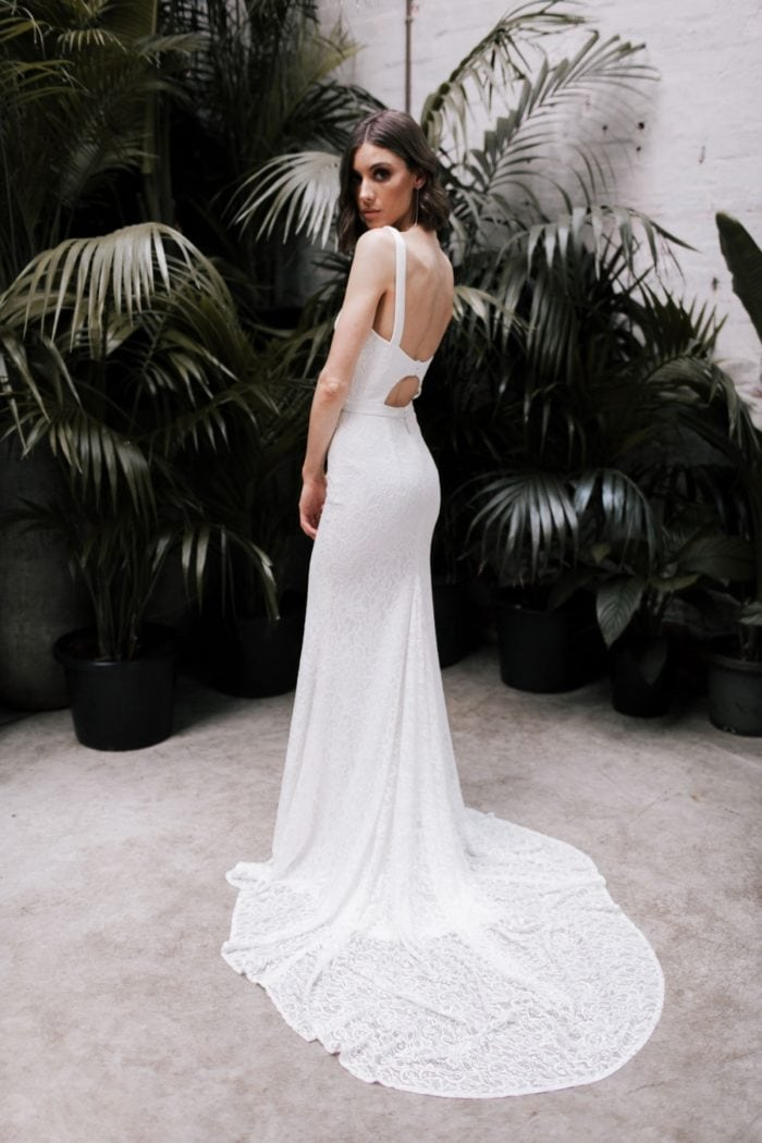Open back cut out wedding dress | Kendall