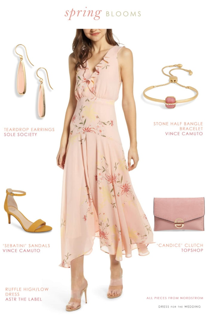 bbd51892d Spring 2019 daytime wedding guest outfit. All items from Nordstrom.