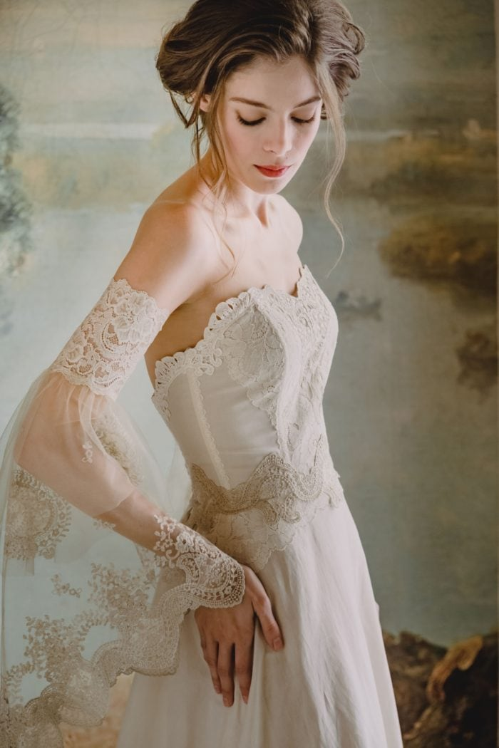 Claire Pettibone wedding dress Marie
