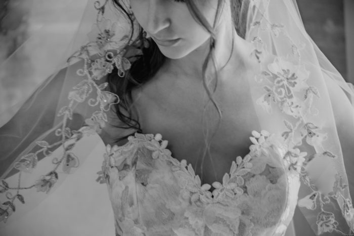 Odessa gown and veil details