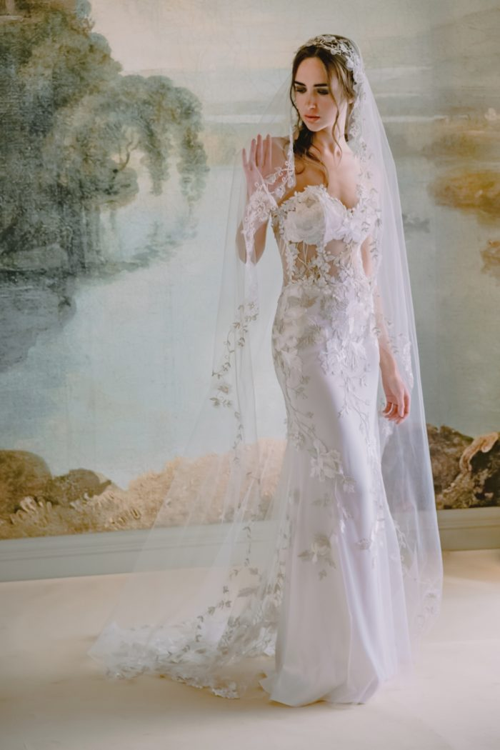 Odessa wedding dress by Claire Pettibone