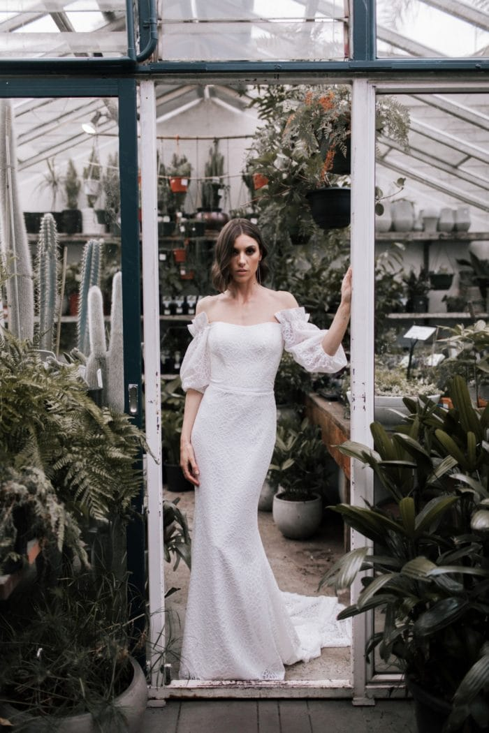 Statement boho wedding dress