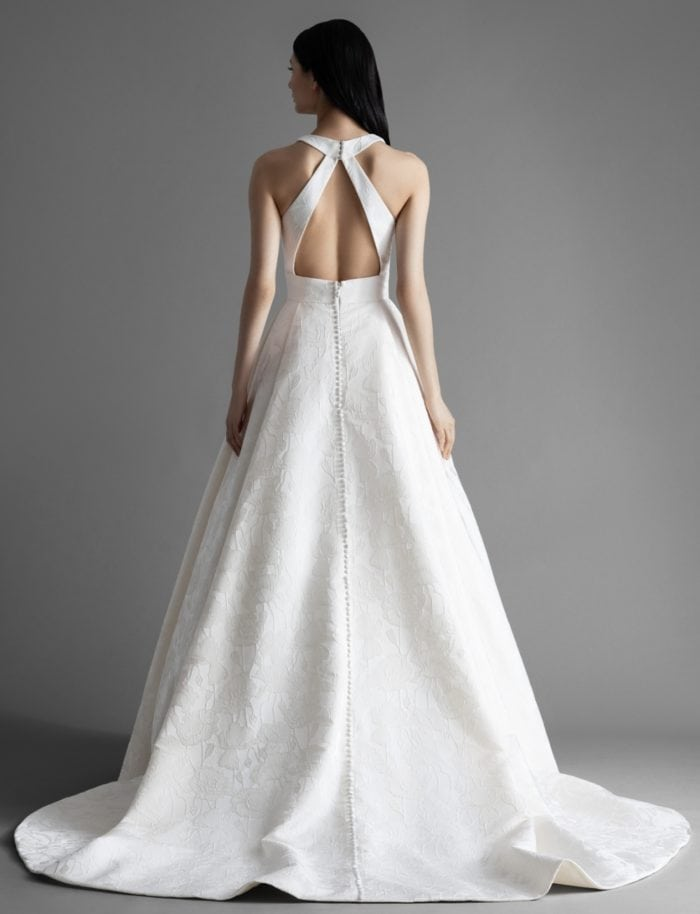 Halter back wedding dress Rose bridal gown by Allison Webb