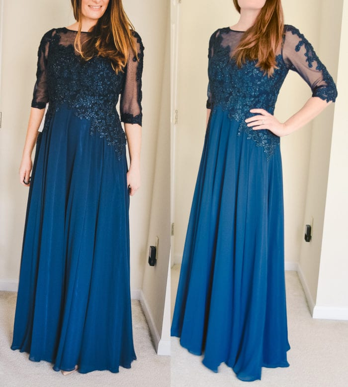 Noelle Azazie Mother of the Bride Dress in Classic Navy