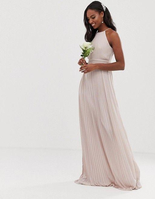 neutral pleated bridesmaid dresses | ASOS Bridesmaid Dresses
