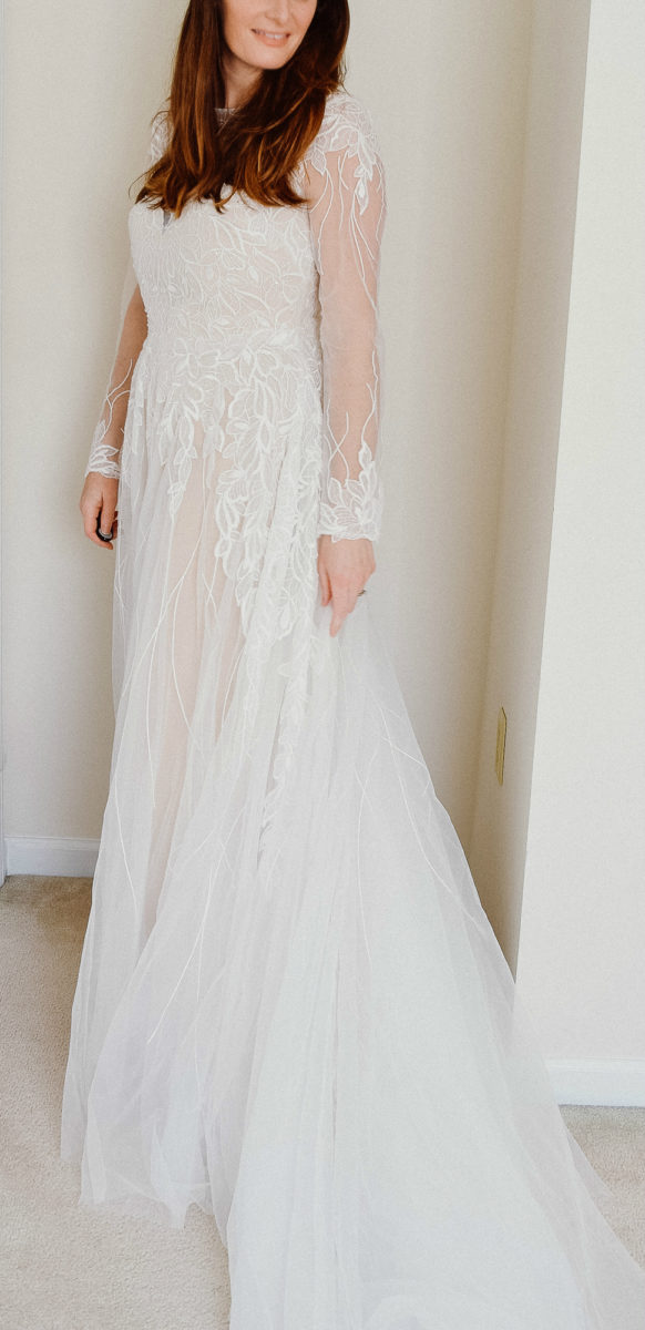 Review of Elvina wedding gown from Azazie