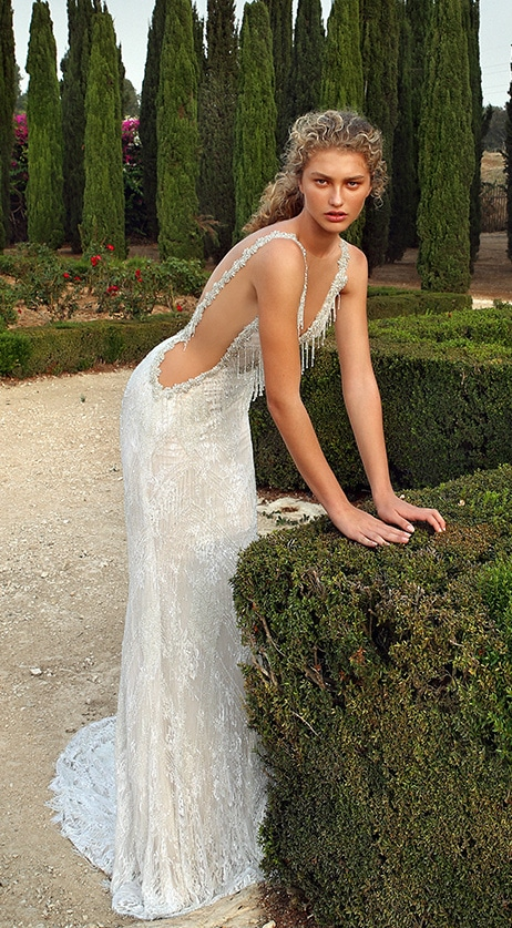 Crystal beaded bridal gown