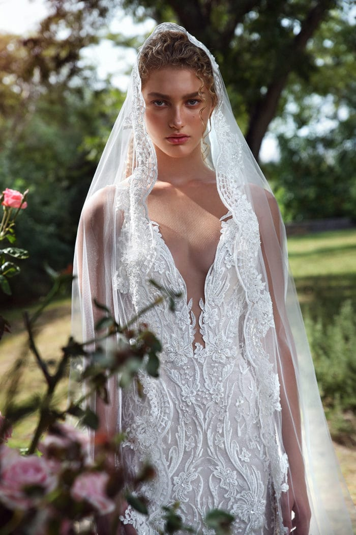 Lace plunge neck Galia Lahav Wedding Dresses Gala Collection