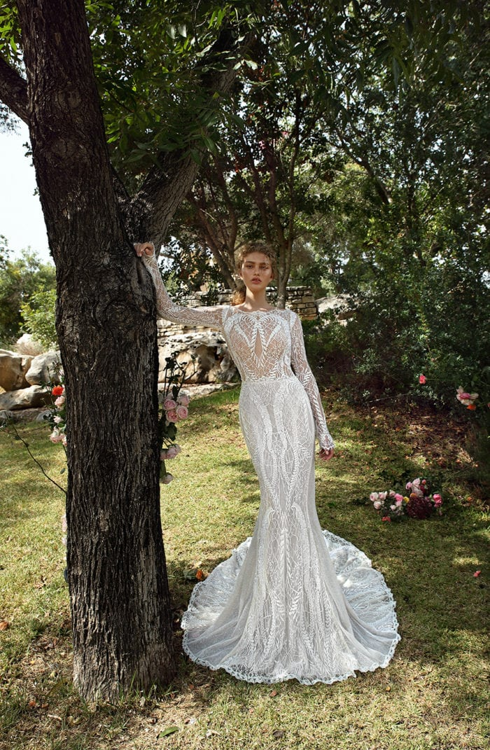 Sheer long sleeve Gala by Galia Lahav wedding dress Style G209