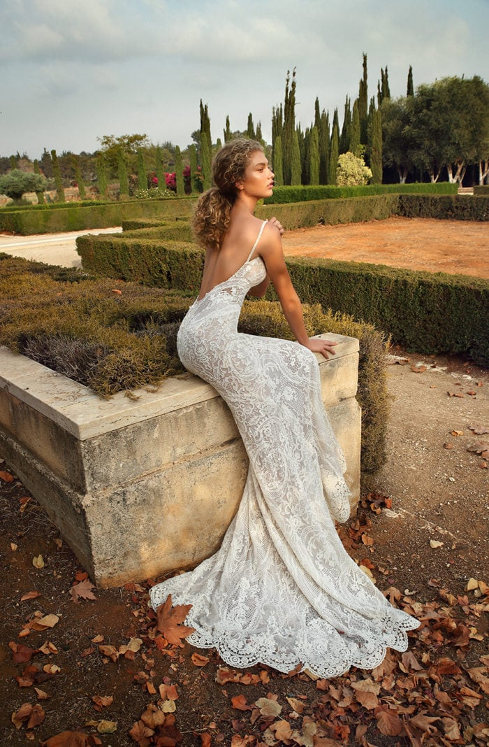 Lace plunge wedding dress Gala Galia Lahav Wedding Dresses Style G201
