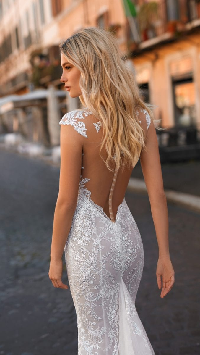 Berta Privee 2020 Bridal Gowns Sheer back