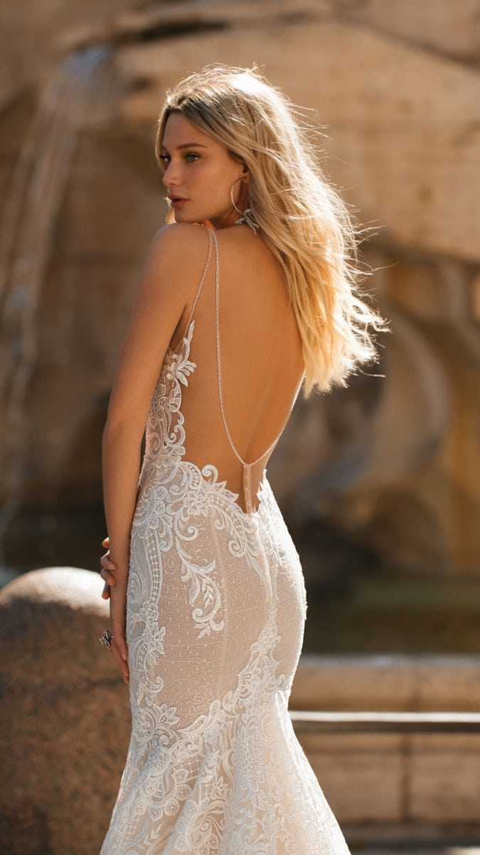 Open back wedding dress | Berta Privee 2020 Bridal Collection