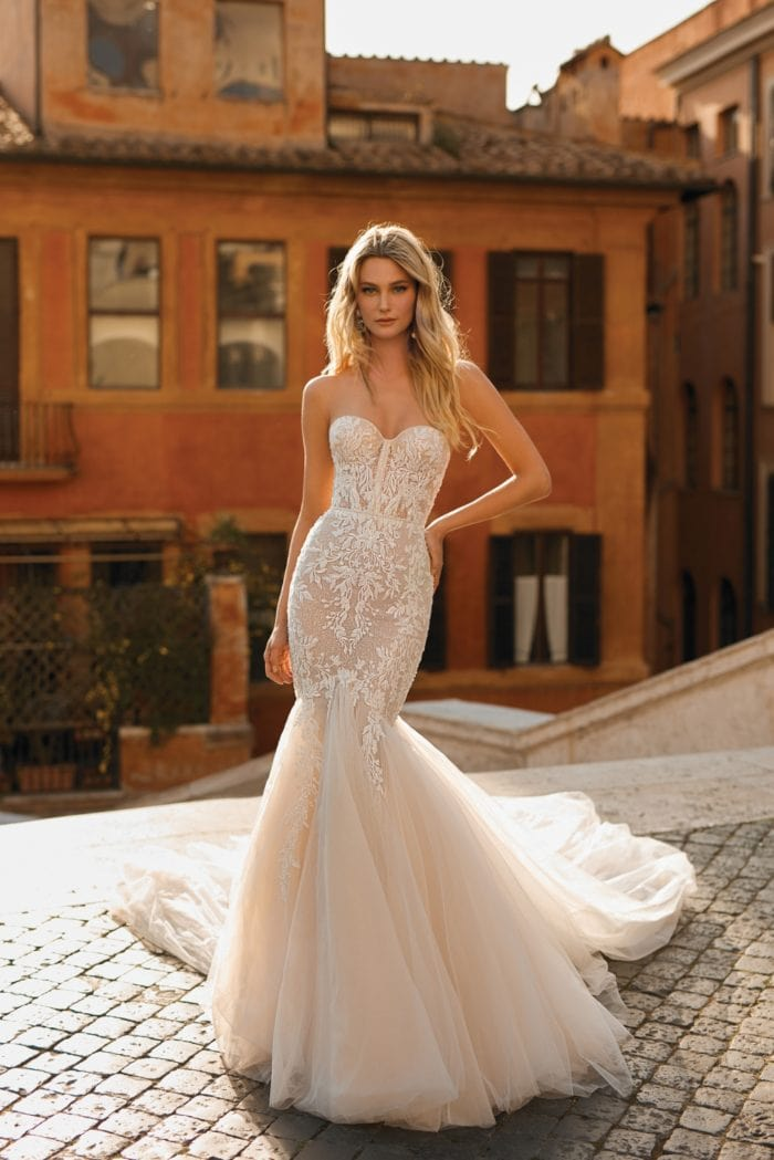 Strapless tulle and lace | Berta Privee Wedding Dresses 2020