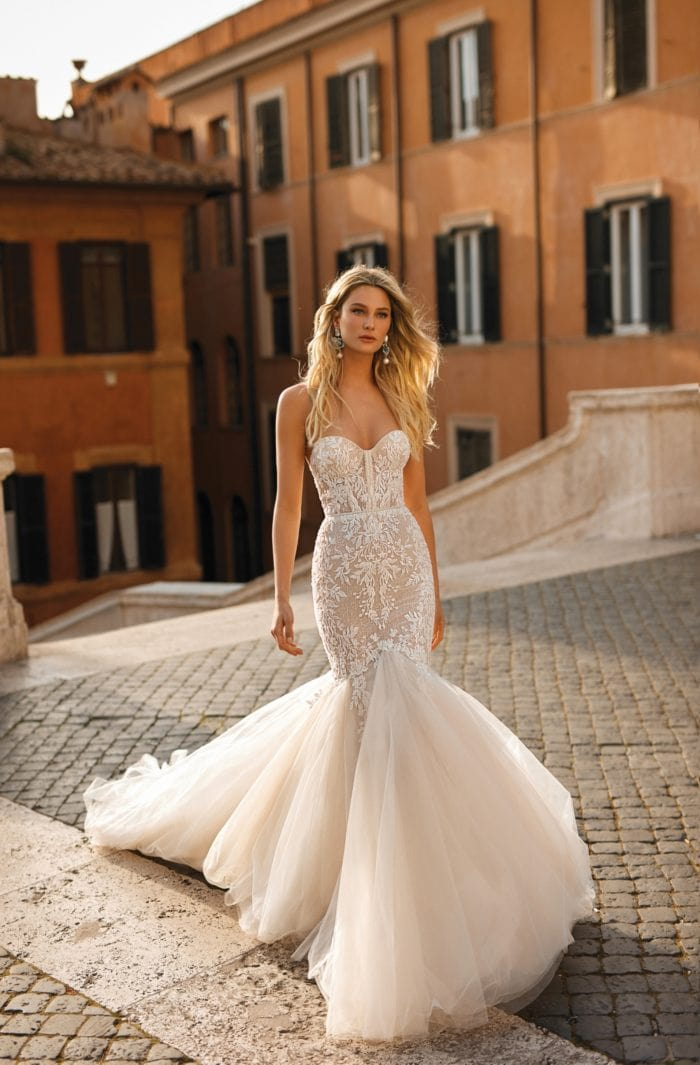 Tulle mermaid Berta Privee Bridal Collection No 2
