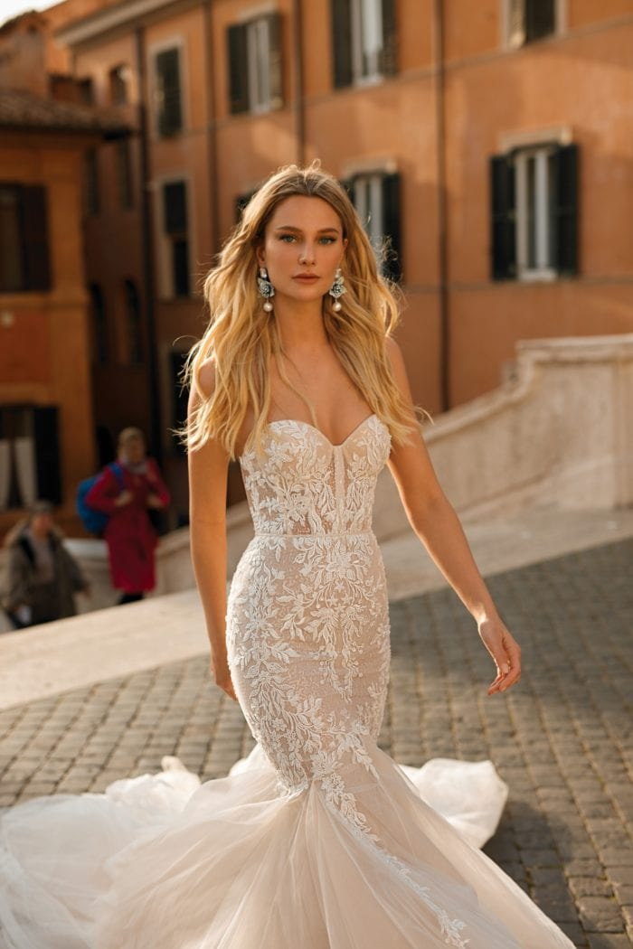 Lace strapless gown Berta Privee Bridal Collection No 2