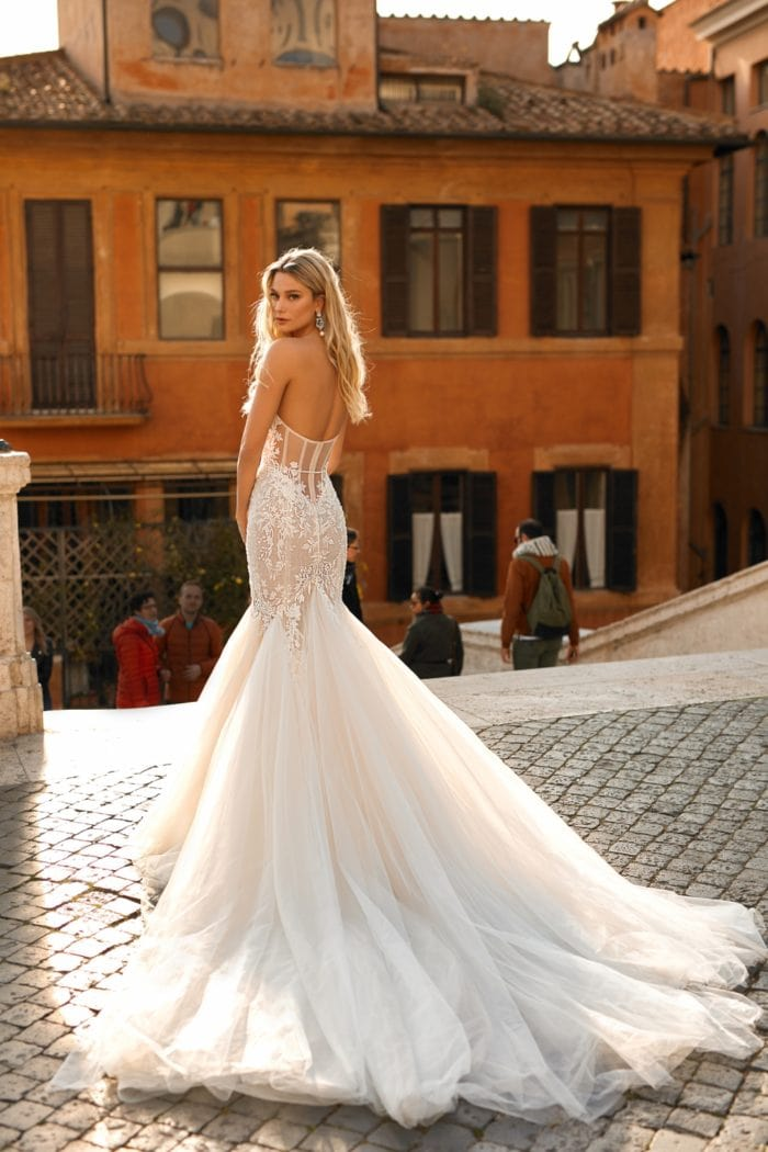 Gorgeous dramatic bridal gown from Berta Privee Bridal Collection No 2