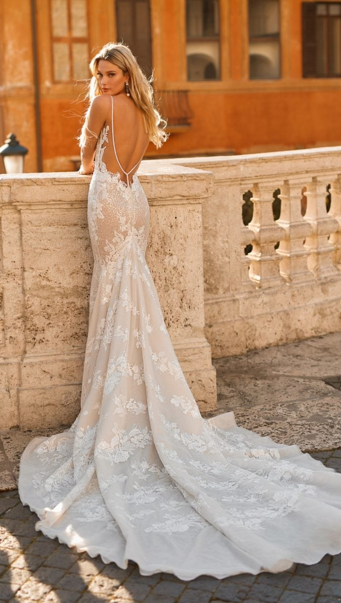 Lace bridal gown Berta Privee 2020