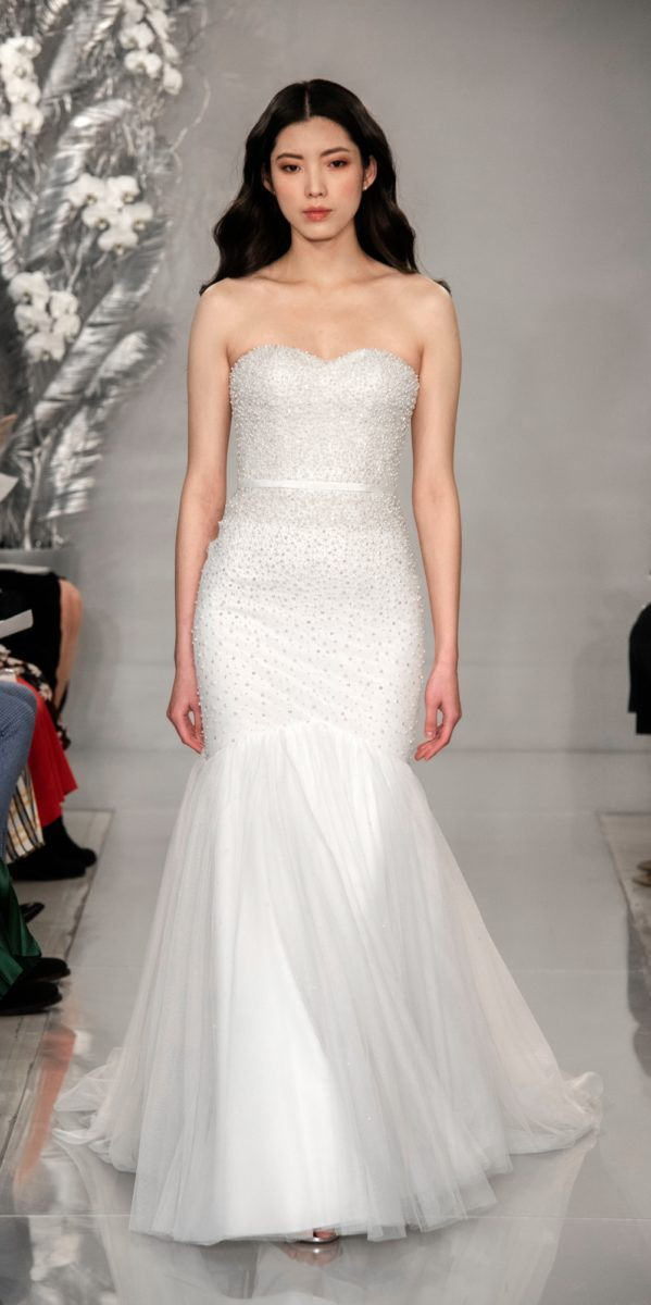 Mermaid style wedding dress with beading | Ellinor Gown from Theia