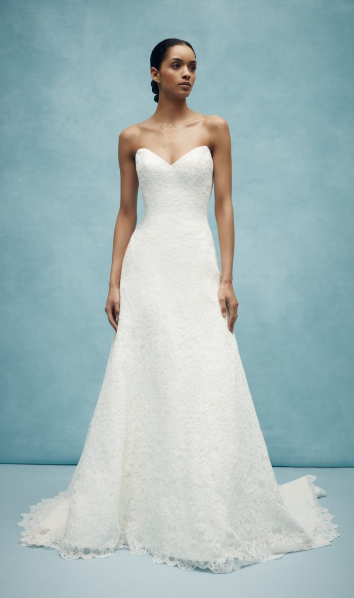 All over lace classic wedding dress from Anne Barge 2020 Bridal Collection