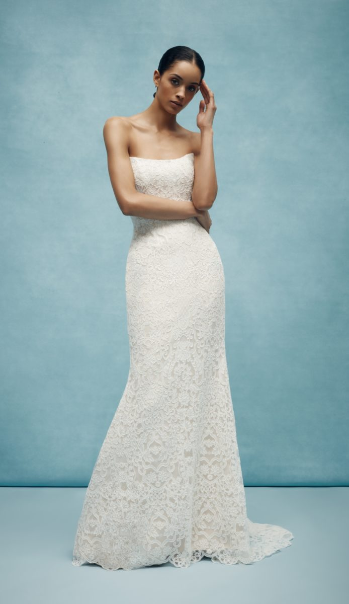 All lace A-line bridal gown by Anne Barge Spring 2020