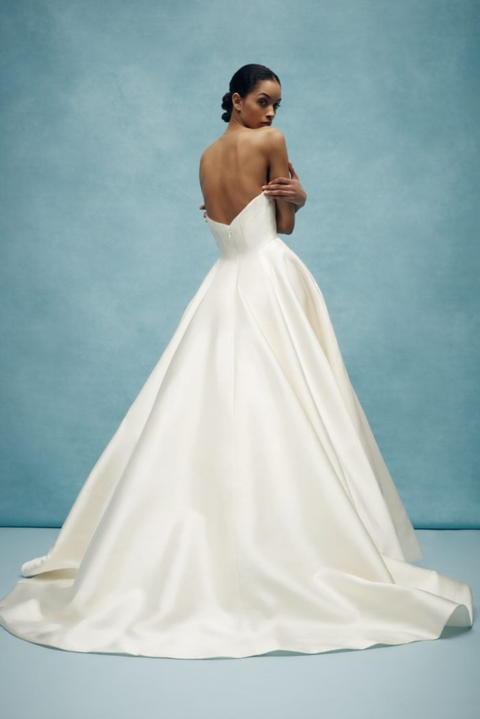 Classic strapless ballgown Anne Barge wedding dress