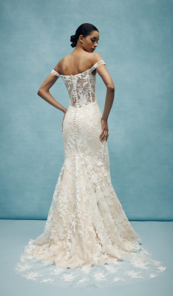 Sheer lace back wedding dress by Anne Barge for Spring 2020