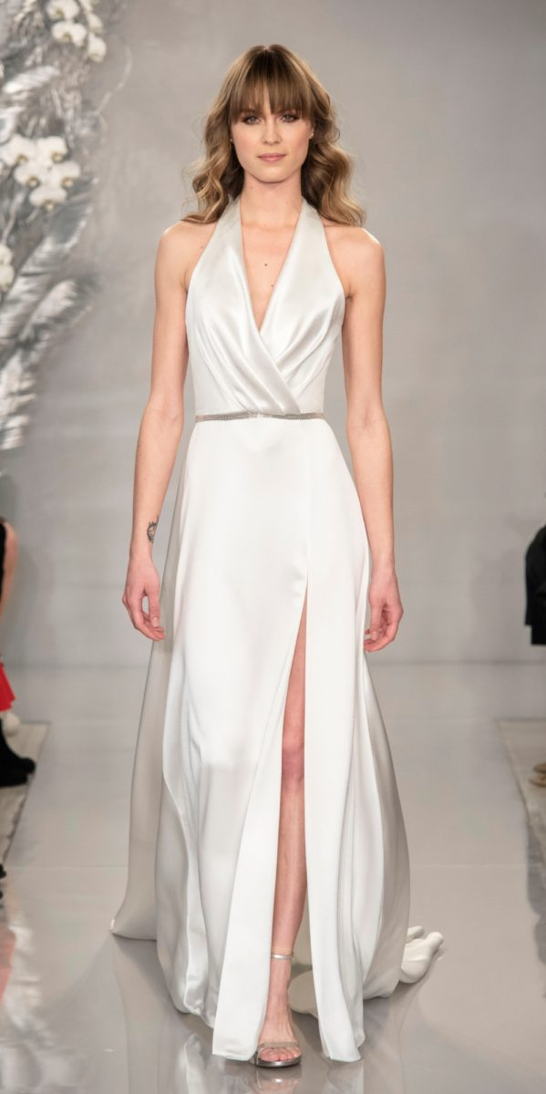 Draped Halter Theia Wedding Dress | Monroe
