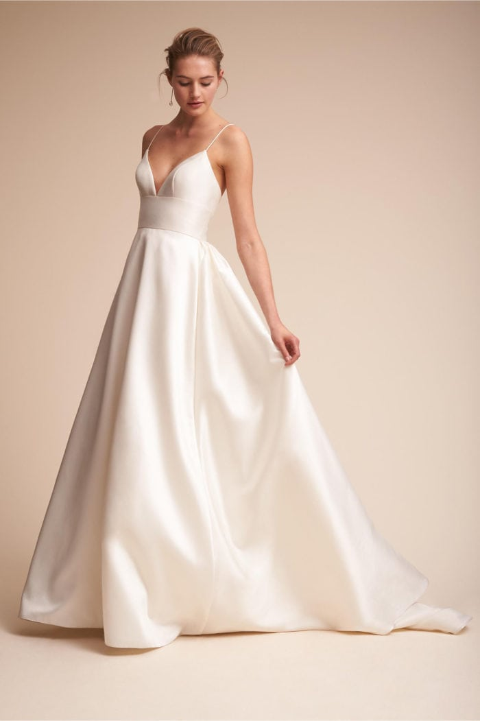 Best Ball gown wedding dress with spaghetti straps